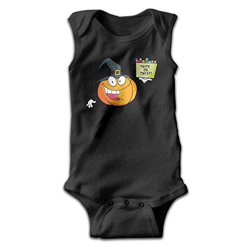 Dog The Bounty Hunter Dog Costume (PanDo Infants Boy's & Girl's Pumpkin Short Sleeve Bodysuit Outfits For 0-24 Months Black 12 Months)