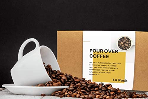 Pour over Coffee 14 Pack Single Serve Portable Refill Refreshment  Hot Water Pourover Drip Coffee