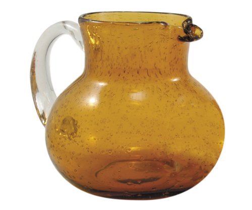 Artland Iris Pitcher, Amber (Crystal Pitcher Set)