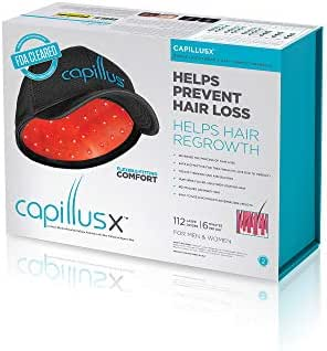 CapillusX Mobile Laser Therapy Cap for Hair Regrowth - NEW 6 Minute Flexible-Fitting Model