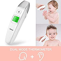 Digital Baby Thermometer for Fever, Ear and Forehead Thermometer with Infrared Sensor, Medical Thermometer with Fever Indicator for Adults, Infants and Elders, Toddler and Adults for Fever