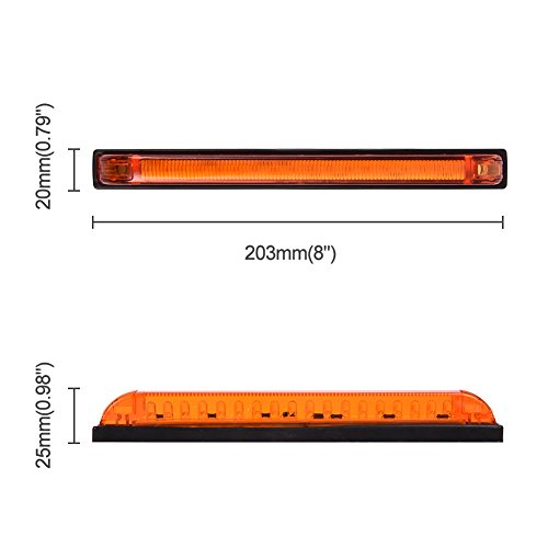 Catinbow 4pcs 3.9 LED Side Marker Light 3 Leds Front Rear Truck Trailer Clearance Marker ID Light Indicator Lamp Waterproof /& Sealed Surface Mounted Installation Red
