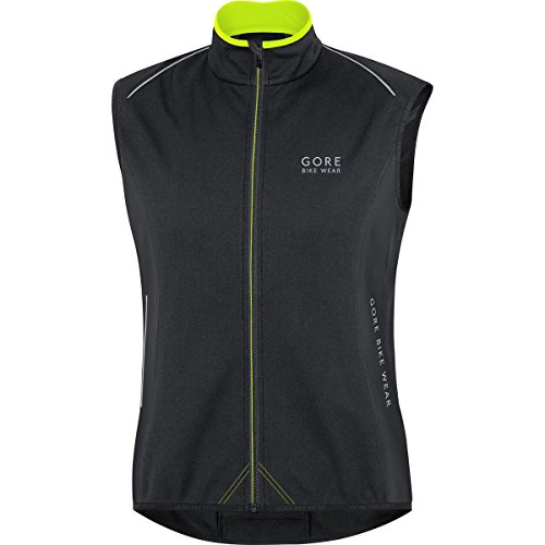 GORE BIKE WEAR Men's Power WINDSTOPPER Soft Shell Thermo Vest, Black, X-Large