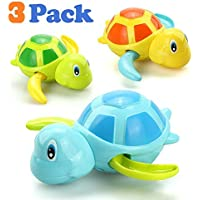 VCOSTORE Wind Up Bath Toys for Toddlers, Cute Swimming Turtle Baby Bathtub Floating Water Bathing Fun Toys Bathroom Toy…