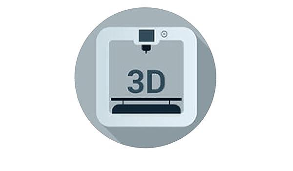 my-puzzle-design alfombrilla de ratón 3d icono de la impresora con ...