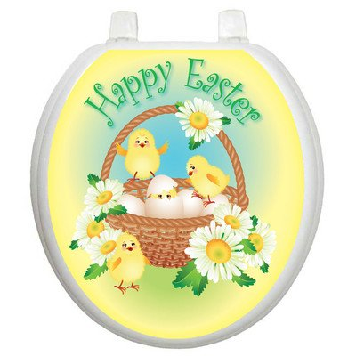 Toilet Tattoos Easter Chicks Decorative Applique For Toilet Lid