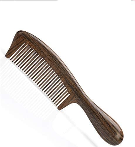 Qukick ポータブルミニ帯電防止ショートヘア、カーリーヘアワイド歯ブラシエボニー (色 : ブラウン)