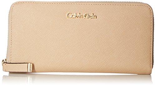 Calvin Klein SaffiaNo Zip Continental Wallet, Nude, One Size by Calvin Klein
