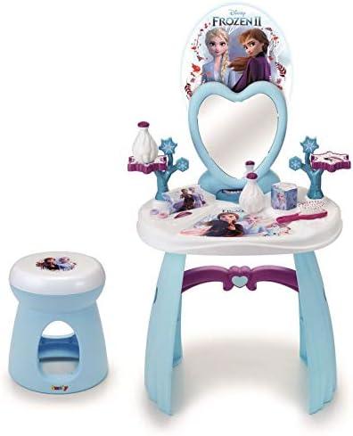 Smoby - Frozen 2 Tocador con taburete y 10 accesorios, pr&am
