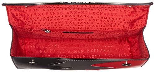 0x28 5x7 0 X H T Zig Noir Sacs Femme Bandoulière b Cm Armani Exchange Zag Crossbody 16 nero Wide Hwxnfnq74