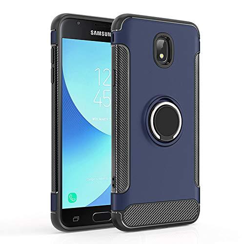 Case for Samsung SM-J337V Galaxy J3 V 2018 / Galaxy Eclipse 2 / SM-J336AZ Galaxy Sol 3 2018 / SM-S367VL Galaxy J3 Orbit/SM-J337T J3 Star Case Cover + 360 Degree Rotating Ring Holder Kickstand Blue (Cases Phone Gp)