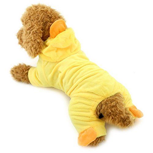 Ranphy Small Dog Cat Halloween Costume Outfits Pet Holidays Clothes Chihuahua Duck Pajamas Cozy Puppy Jumpsuit Yellow L