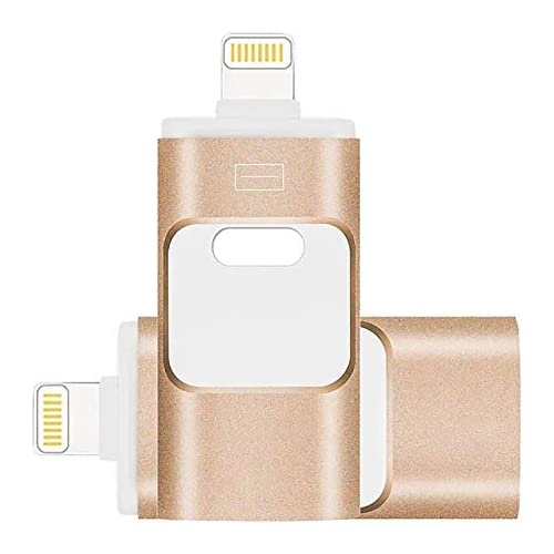 USB Flash Drive 256GB, MATEPRO Memory Stick External Storage Compatible iPhone/PC/iPad/Android More Devices USB Port (256GB, Gold)