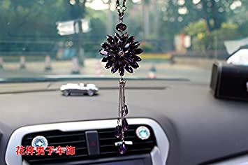 Amazon.com: Car Accessories Crystal Pendant With High-End Car ...