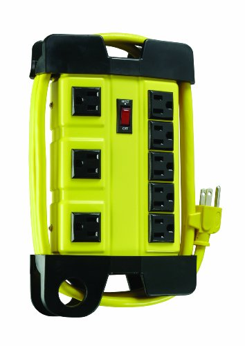Woods 4655 Power Strip, 8-Outlet 1 HEAVY DUTY metal housing makes this 8 outlet power block perfect for use in your workshop or any other rugged work area 8 GROUNDED OUTLETS that allow you to power multiple appliance at once 3 SPACED OUTLETS for adapter plugs