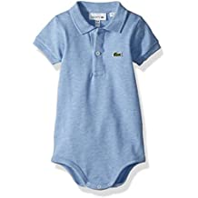 Lacoste Baby Boys Layette Short Sleeve Pique Body Gift Box