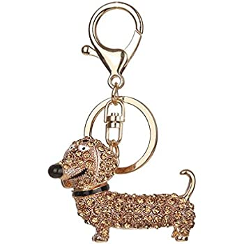 Amazon.com : Creative Cute Dachshund Dog Key Chain Ring