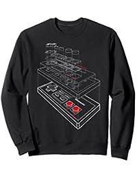 NES Controller Exploded Schematic Sweatshirt