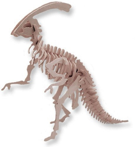"""ABC Products"" - Balsa Wood - Dinosaur Skeleton - All Wood - Assembling Kit (Walking Parasurolophus Model)"