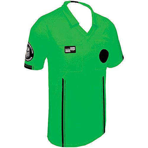 - New USSF Men's Economy Soccer Referee SS Shirt (Large Green)