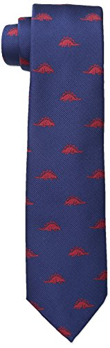 Wembley Big Boys Dinosaur Novelty Tie, Navy/Red, One Size