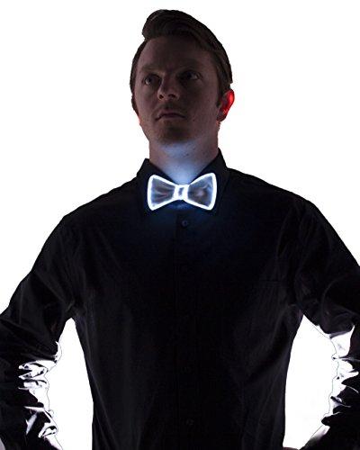White Light Up Bow Tie (White) -