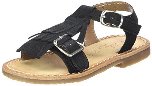 L'ATELIER TROPEZIEN Sandales Triple Franges - Zapatos de primeros pasos Bebé-Niños Noir (Black)