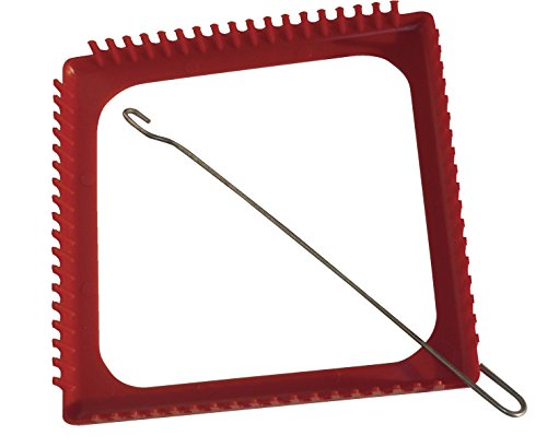 School Specialty Metal Square Loop Weaving Loom with Hook and Instructions, 7-1/4 X 7-1/4 in (Metal Loop Hook)