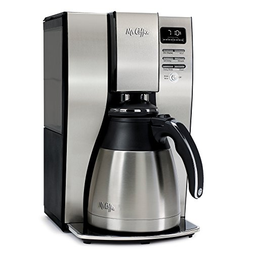 Mr. Coffee BVMC-PSTX95 10-Cup Optimal Brew Thermal Coffee Maker, Stainless Steel (Metal Coffee Pot)