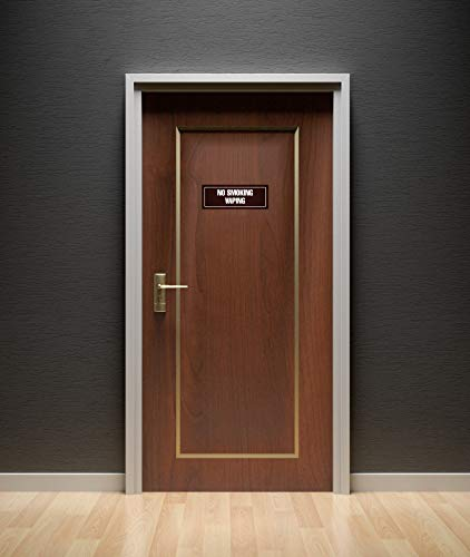 Dark Walnut Single Plastic iCandy Products Inc Check in Business Office Door Building Sign 3x9 Inches