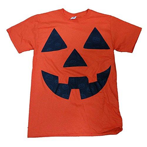 Halloween Pumpkin Jack O Lantern Orange Graphic T-Shirt - Large