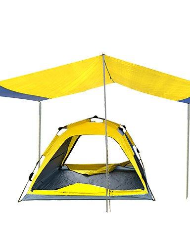 HIIY Zelt ( Gelb , 3-4 Personen ) -Feuchtigkeitsundurchlässig/Wasserdicht/Atmungsaktivität/Regendicht/Staubdicht/Anti-Insekten/Winddicht/Gut