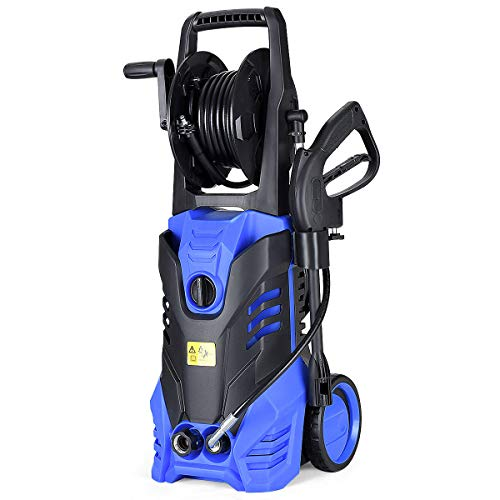Goplus 3000PSI Electric High Pressure Washer, 2 GPM 2000W Portable Power Washer w/Deck Patio Cleaner (Blue)