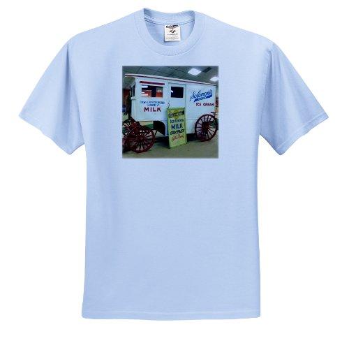 - Florene Vintage - Vintage Milk Wagon - T-Shirts - Adult Light-Blue-T-Shirt 2XL (ts_17210_54)