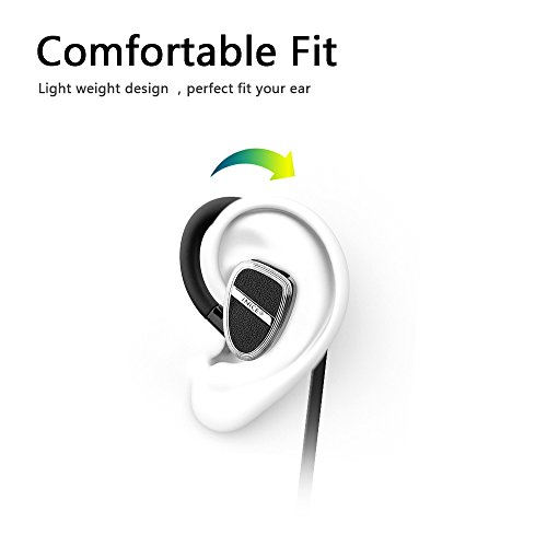 [Bluetooth Headphones iNiCE Wireless In-Ear Sport Earbuds Stereo Earphones with Mic IPX4 Sweatproof and CVC 6.0 Noise Cancellation 8 Hrs Playtime Secure Fit for Sports and Workout] (Halloween Backgrounds Free)