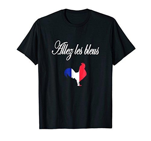 Allez les -hommes- bleus france soccer t-shirt