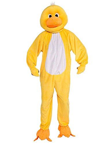 Forum Novelties Men's Plush Duck Mascot Adult Costume, Yellow, Standard
