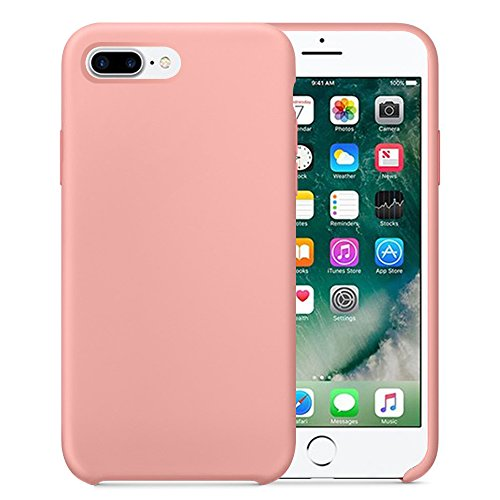 iPhone 7/7 Plus Case iPhone 8/8 Plus Case for Girls Slim Fit Anti Scratch Soft TPU Cute Solid Candy Color (iPhone 8 Plus, Light Pink)