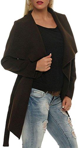 malito Design Gilet avec Manteau Bol Enrouler Veste Cascade court BWr6BnaqA