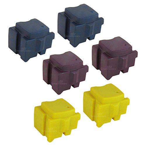 Speedy Inks - Compatible Replacements for Xerox Set of 6 Solid Ink Sticks Includes: 2 108R00926 Cyan, 2 108R00927 Magenta, and 108R00928 Yellow