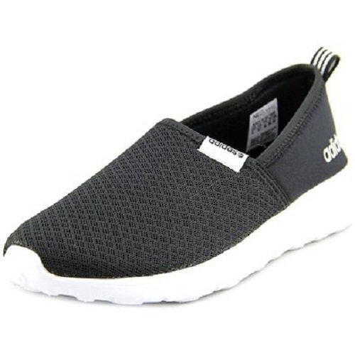 Adidas Fit Foam (adidas NEO Women's Lite Racer Slip On W Casual Sneaker,Black/Black/White,8.5 M)