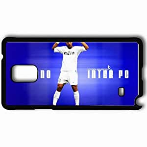 Personalized Samsung Note 4 Cell phone Case/Cover Skin Adriano FIFA Football Black by lolosakes