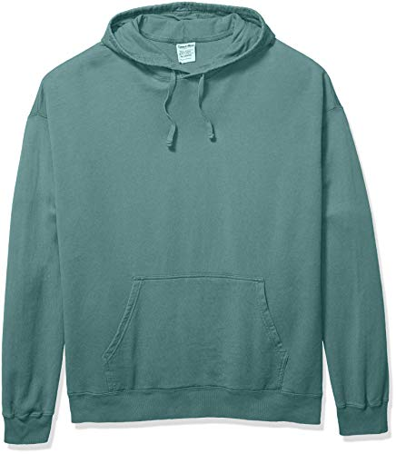 (Hanes Men's ComfortWash Garment Dyed Fleece Hoodie Sweatshirt, Cypress Green Small )