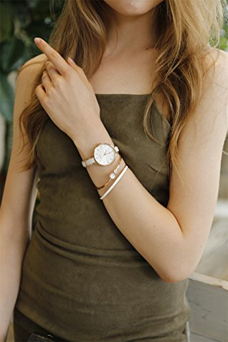 MAMONA Women's Quartz Watch Gift Set Crystal Accented Ceramic and Stainless Steel Rose-Gold L3877RGGT by MAMONA (Image #1)