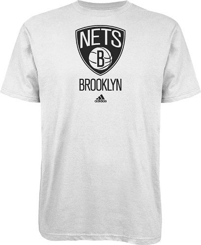 Adidas Brooklyn Nets NBA Full Primary Logo T-shirt camisa - White: Amazon.es: Deportes y aire libre