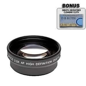 2 x lente profesional + gamuza de microfibra para Kodak Easyshare DX6490 DX7590 Z7590 cámaras digitales + tubo adaptador
