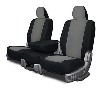 CarsCover Custom Fit Dodge Ram Truck Neoprene Custom Fit Seat Covers Gray & Black Sides