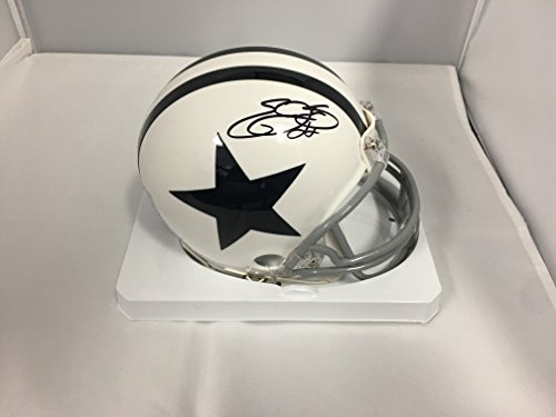 Emmitt Smith Autographed Signed Cowboys Throwback White Mini Helmet GTSM COA & Emmitt Personal (Emmitt Smith Autograph)