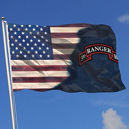 (QphonesFlag US Army 3rd Ranger Battalion SSI Flag 3x5-Flags 90x150CM-Banner 3'x5' FT)