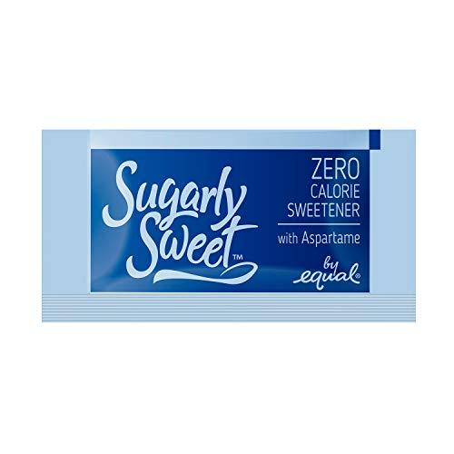 SUGARLY SWEET Zero Calorie Sweetener Packets with Aspartame, Sugar Substitute, Sugar Alternative, Blue Sweetener Packets, 2,000 Packets